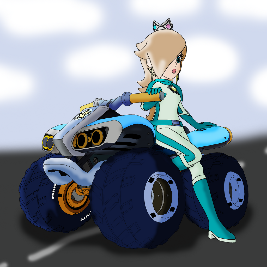 Rosalina and the standard quad from Mario kart 8 by ...