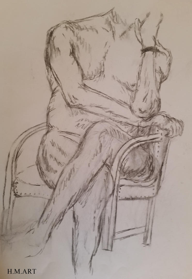 Nude Male Life Drawing by Marmiexx