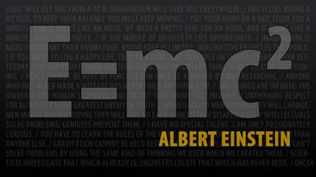 Albert Einstein - E_mc2 by okckilinc