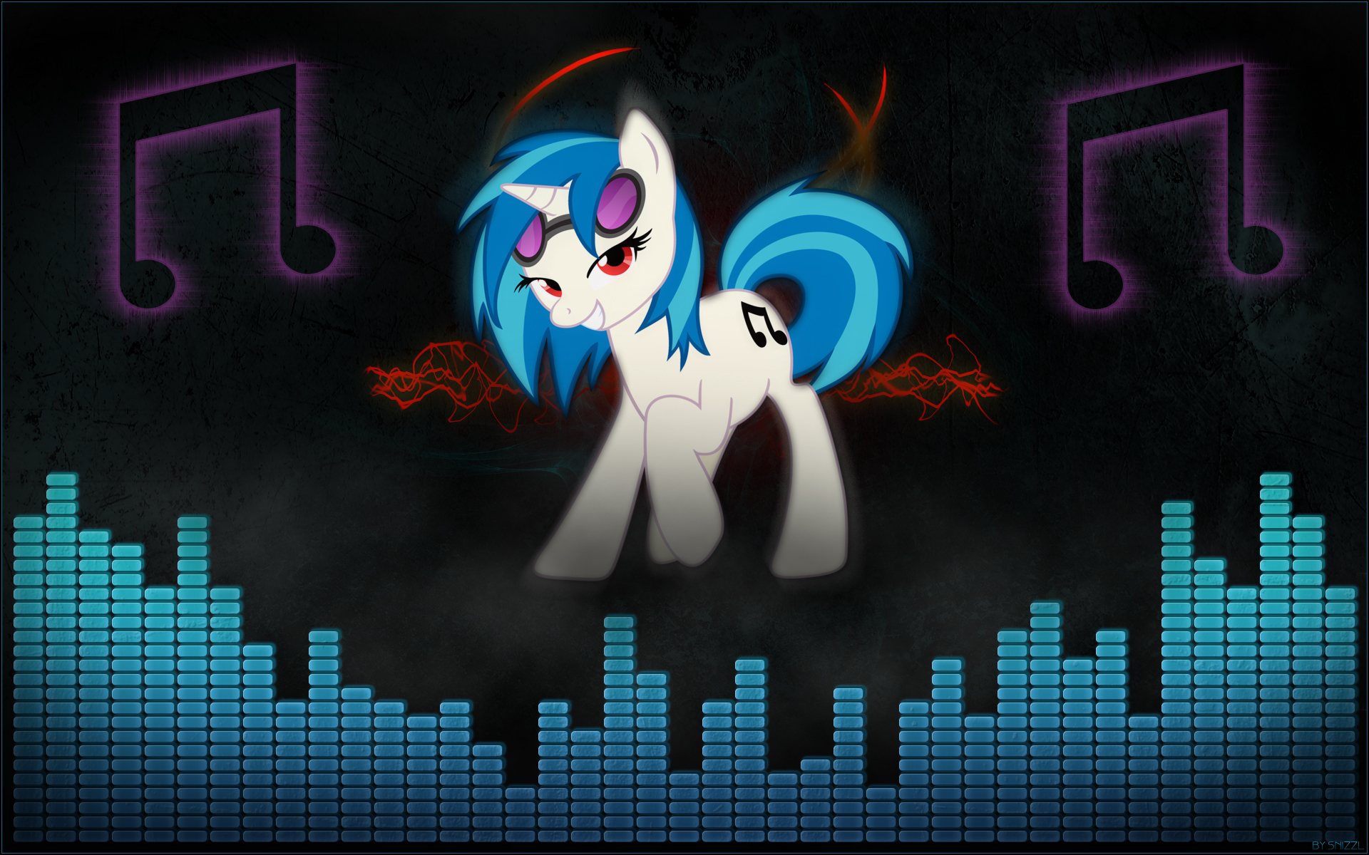 Vinyl Scratch Wallpaper #1 by snizzl