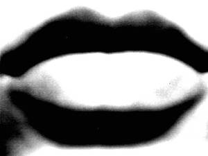 Just my lips....