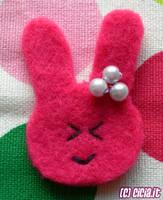 Felt bunny by Cicia