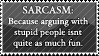 SARCASM. by alyssinelysium