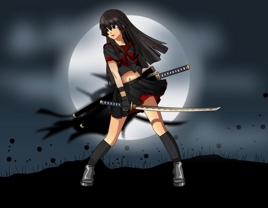 Blood-0: Kuroshinshii Saya by katerinaaqu