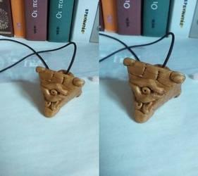 Yu-Gi-Oh Millennium Puzzle mini-pendant by katerinaaqu