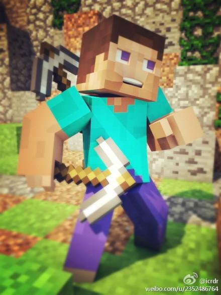 Steve in Minecraft by icrdr on DeviantArt