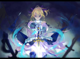 SABER_Lily by sleeping-pig