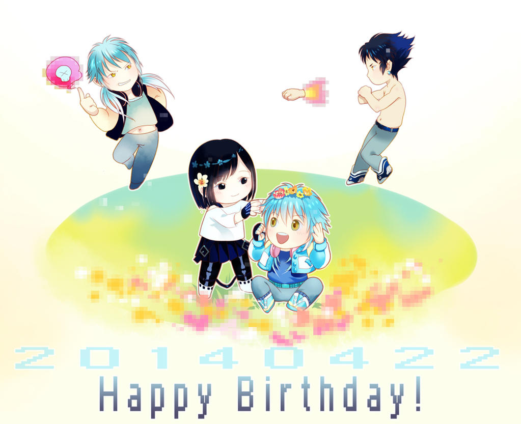 happy birthday to aoba and sei and ren by sleeping pig on deviantart