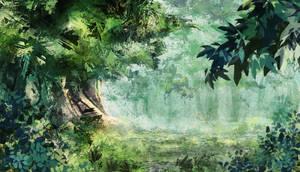 La Fontaine des Larmes - Decor scene 2