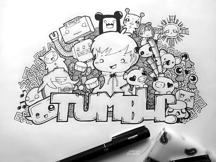 Scribble Drawing Tumblr : Doodle tumblr v by eunhaerepublic on deviantart