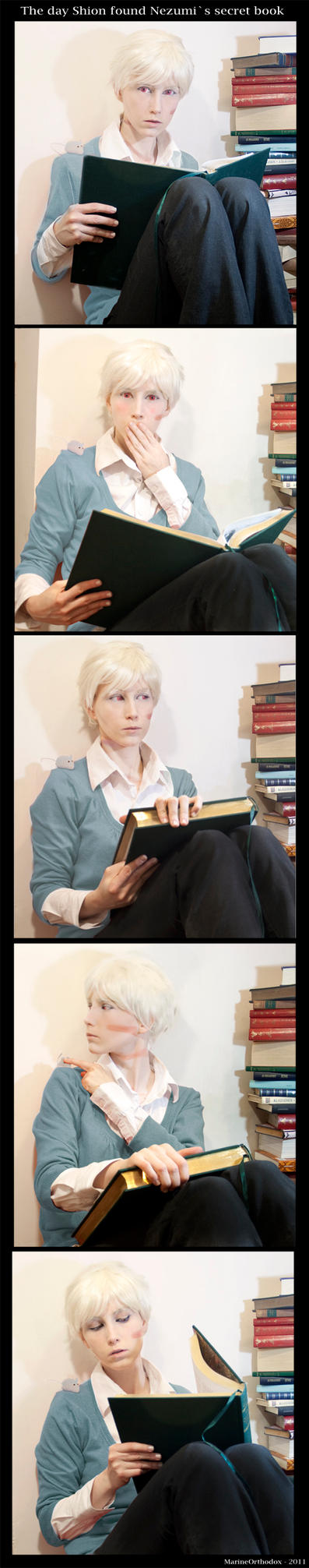 No6 Cosplay - Nezumi secret book by MarineOrthodox