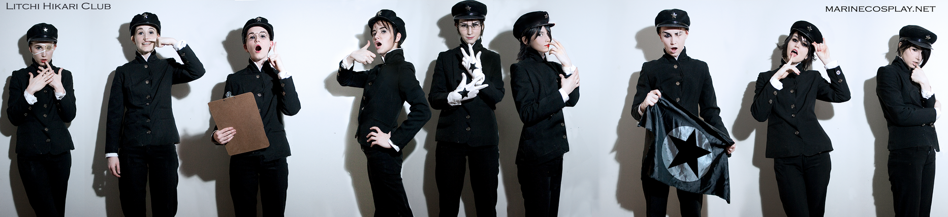 Litchi Hikari Club cosplay -whole group Makeup lab