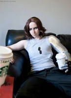 COSPLAY - Winter Soldier - Starbucks by marinecosplaybr