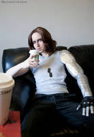 COSPLAY - Winter Soldier - Starbucks II by marinecosplaybr