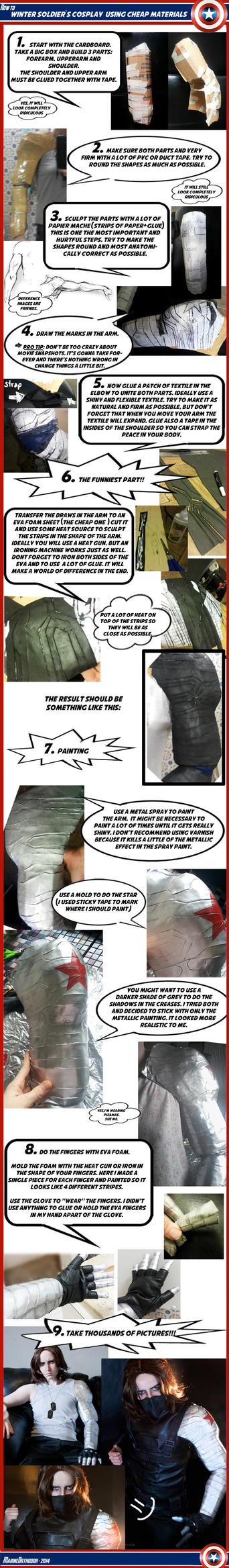 TUTORIAL - Winter Soldier's metal arm by marinecosplaybr