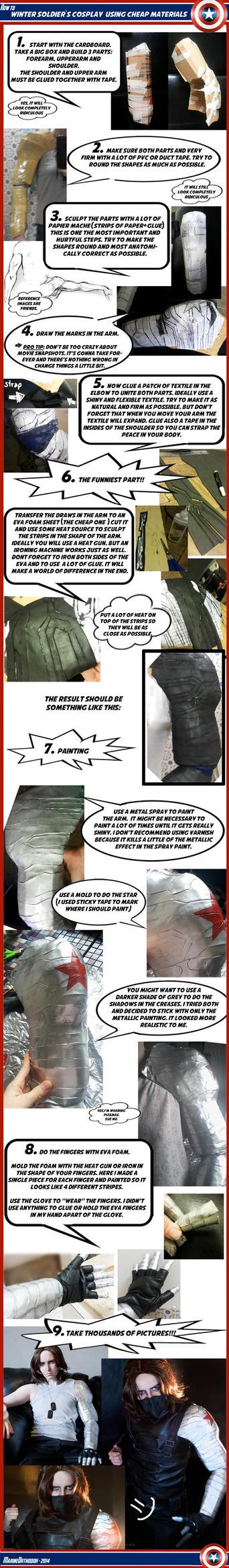 TUTORIAL - Winter Soldier's metal arm by MarineOrthodox