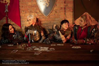 [COSPLAY] Dragon age tavern - Dragon Age 2 dorks by marinecosplaybr