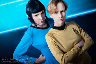 [COSPLAY] Star trek - Spirk genderbend by marinecosplaybr