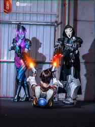 [COSPLAY] Overwatch - Tracer x Widowmaker x Reaper