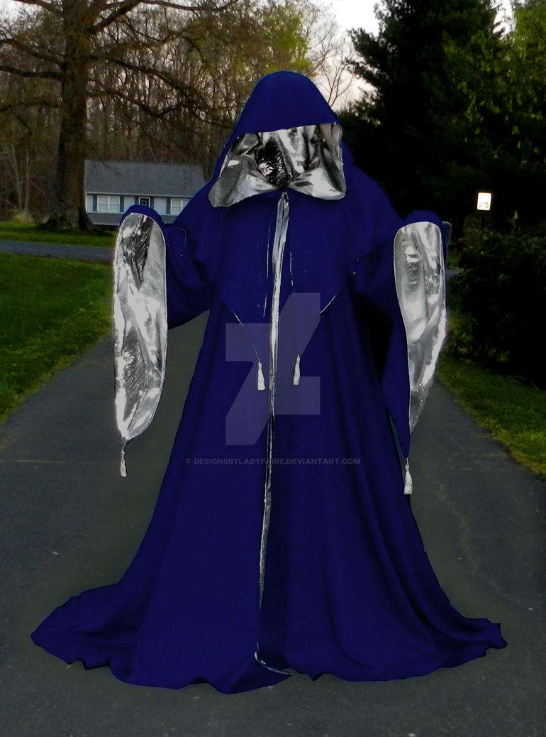 blue and silver wizard witch robe by designsbyladyfaire on deviantart