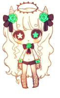 Demon green brown girl -  CLOSED by kioler