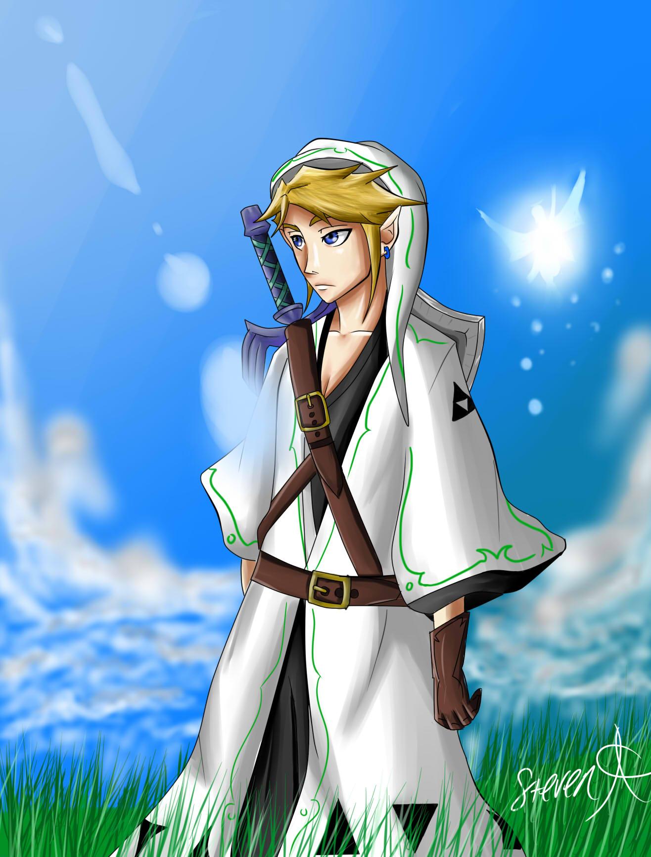 Crossover: Bleach/Legend of Zelda Captain Link by LieutenantSea