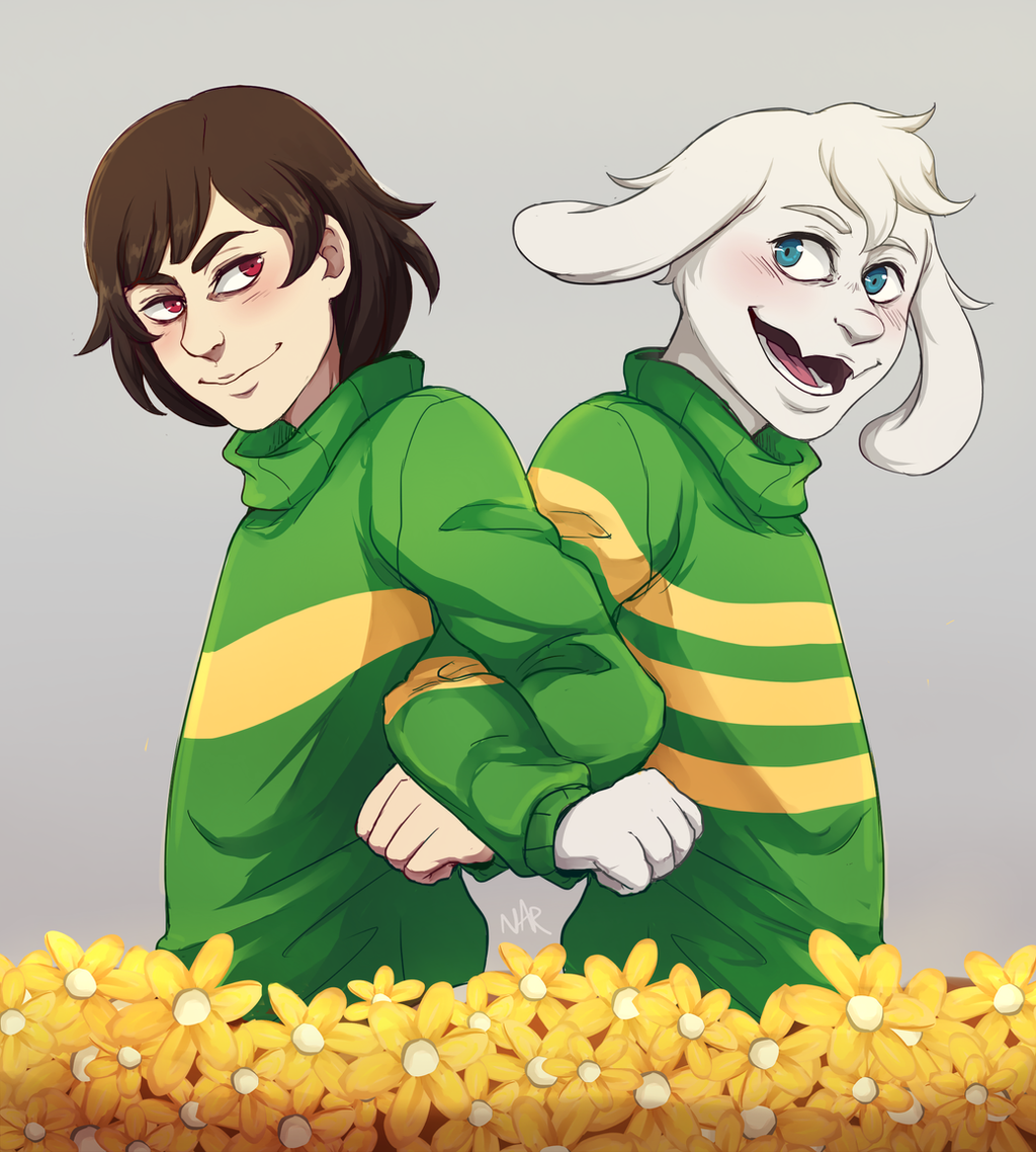 Storyshift Chara and Asriel Clothing Swap : Undertale