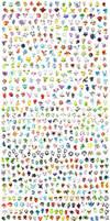 All 718 pokemon !