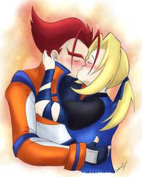 The kiss by I-Am-Bleu
