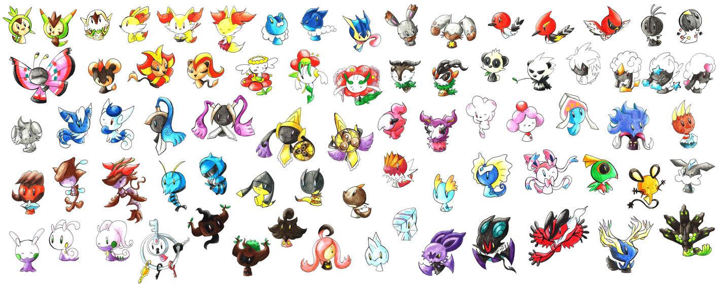 Bleus pokedex generation vi by i am bleu on deviantart - Pokemon 6eme generation ...