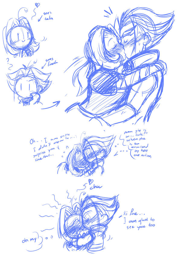 sketch dump cute action by I-Am-Bleu