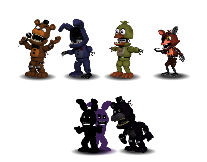 Canon)FNAF World Characters : Part 2(Withereds) by