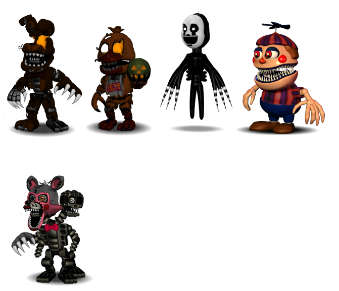 Canon)FNAF World Characters : Part 4(Halloween!) by ...