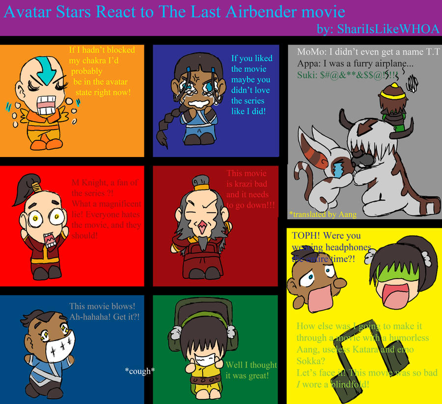 The Last Airbender Movie Appa: Avatar Reacts To TLA Movie By ShariIsLikeWHOA On DeviantArt