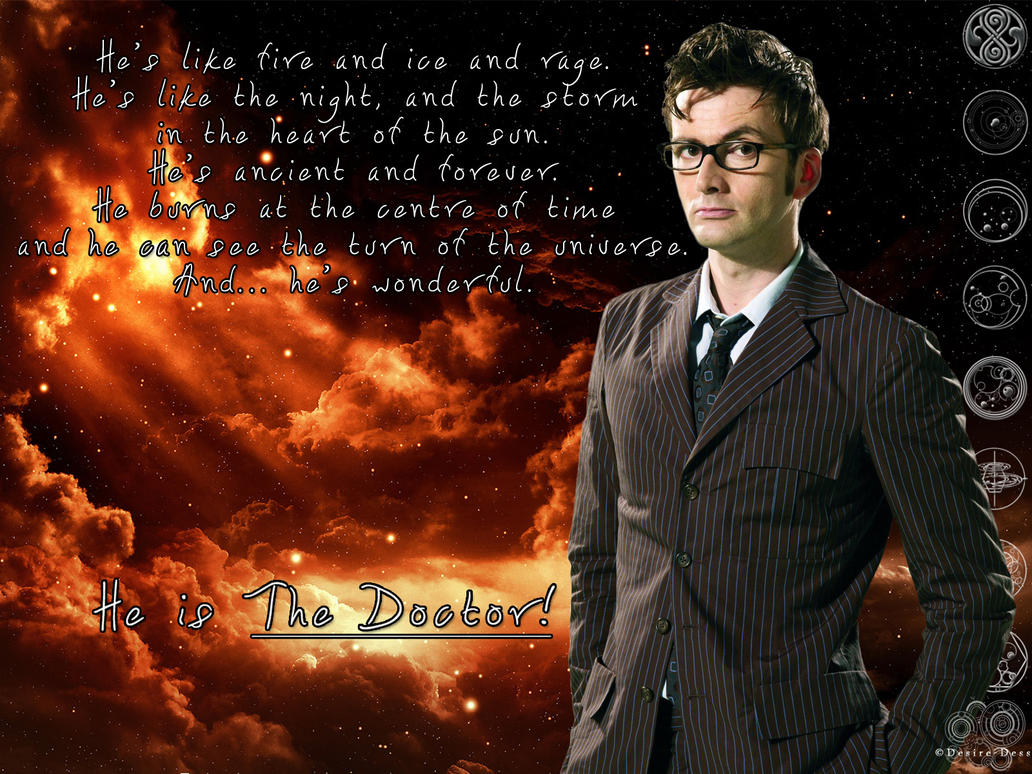 Doctor Who Wallpaper David Tennant Quote The Doctor by Desire-Dess