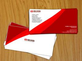 Oblivion Business Card by oblivion-media