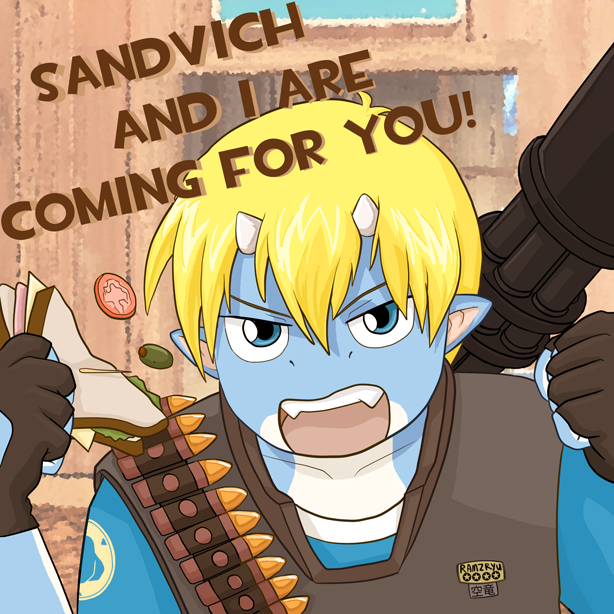 You run from Sandvich by ramzkun