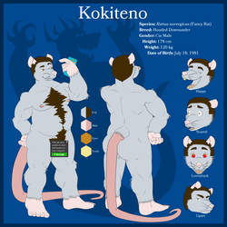 Fursona Ref Sheet CENSORED (2018) by kokiteno