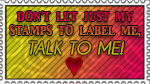 + Say NO to stamp-labeling + by Gixotic