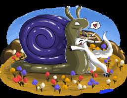 Rune Hugs A Bigg Snail