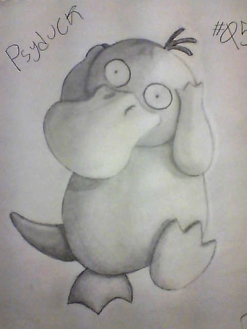 My Lil' Buddy, Psyduck. by CavemanBoo