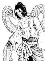 Uchiha Sasuke And Snake by kawaiitas