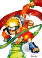 Naruto with a scroll by kawaiitas