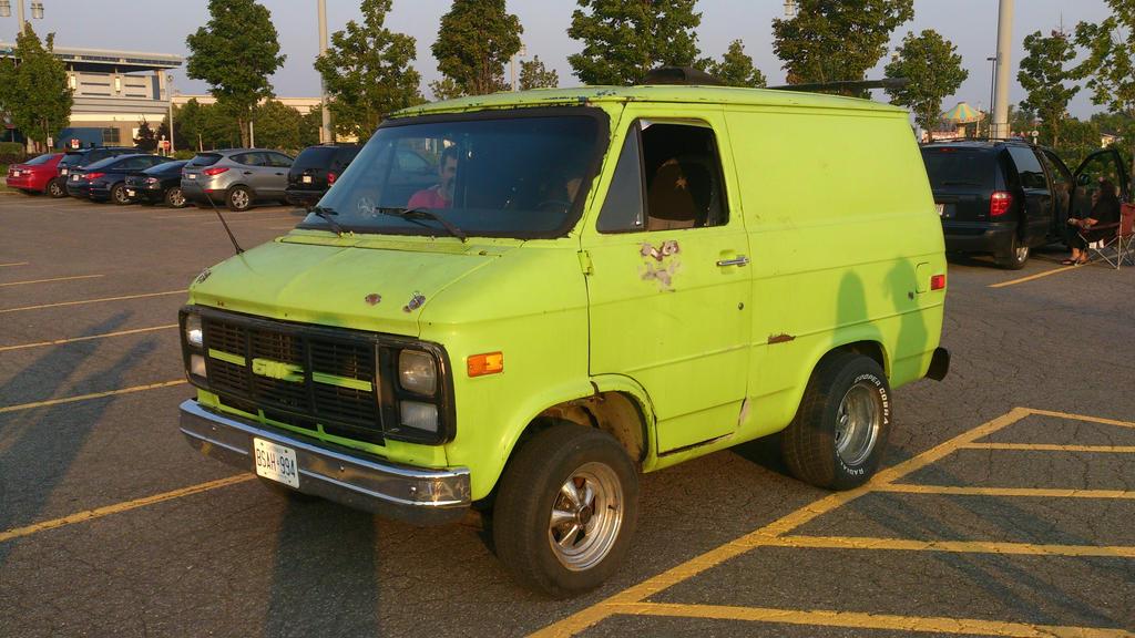 A Short Lime Green GMC Van By Badluk