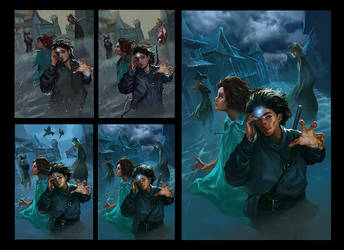 Book cover step by step by bloodyman88