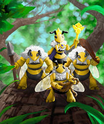Bees Battle by bloodyman88