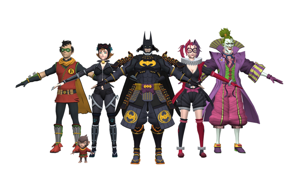 Inj Ios Batman Ninja Characters By Gr 85 On Deviantart