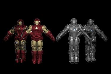 IM2 X360 HERO Iron Man MK1-MK2 by GR-85