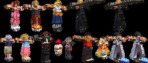Kingdom Hearts 2 PS2 Final Fantasy Characters