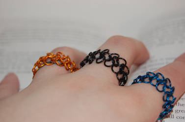 Colorful Chainmail Rings by FragilexAir